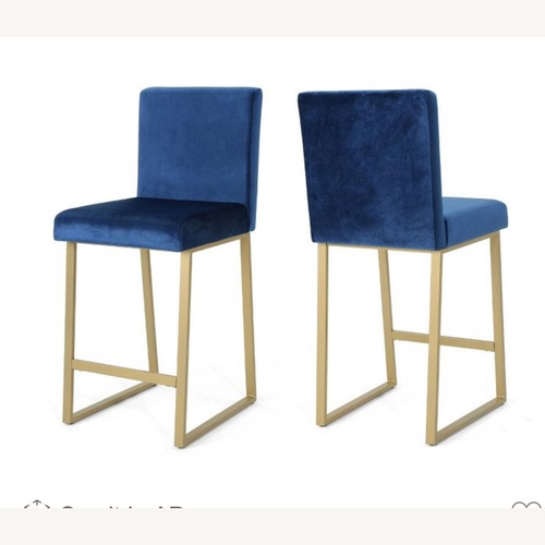 Used Christopher Knight Home Blue Counter Stools for sale on AptDeco