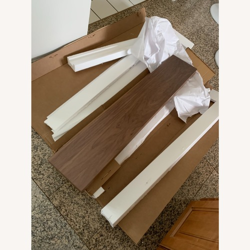 Used Semihandmade 48 Walnut Floating Shelf for sale on AptDeco