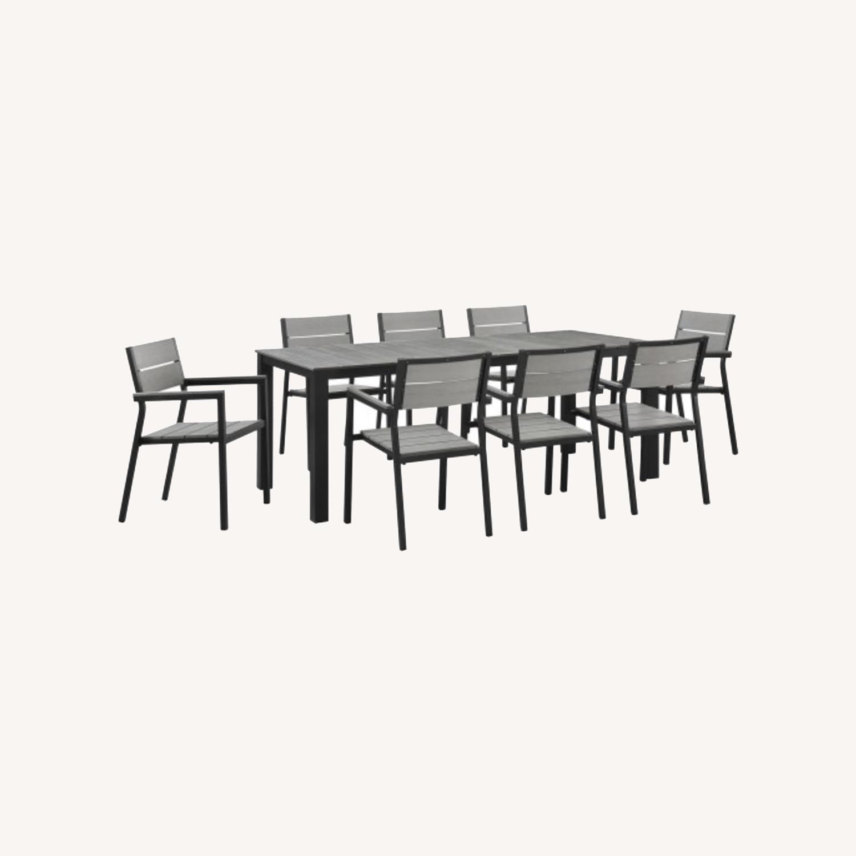 Modern Dining Set In Gray Powder Coated Frame - image-6