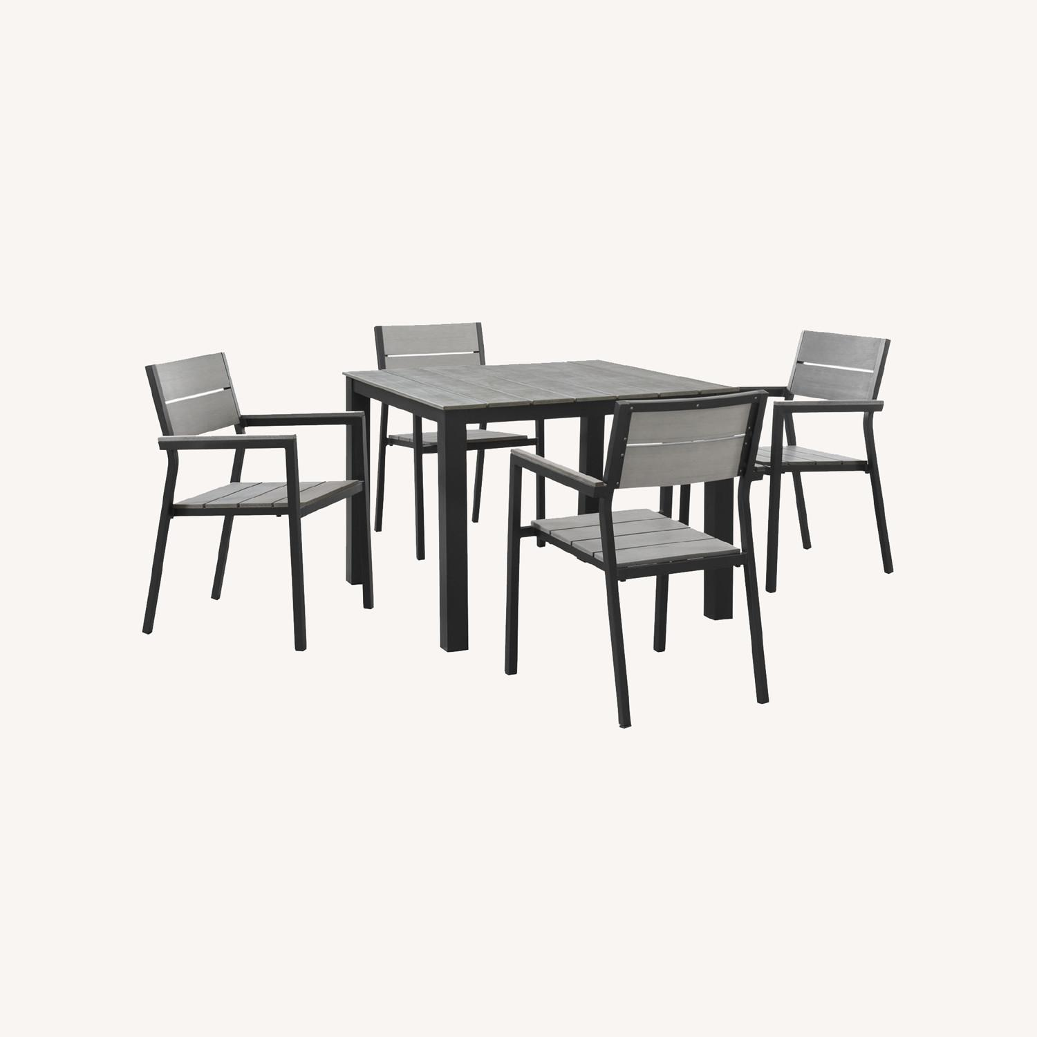 Modern 5-Piece Dining Set In Gray Frame Finish - image-7