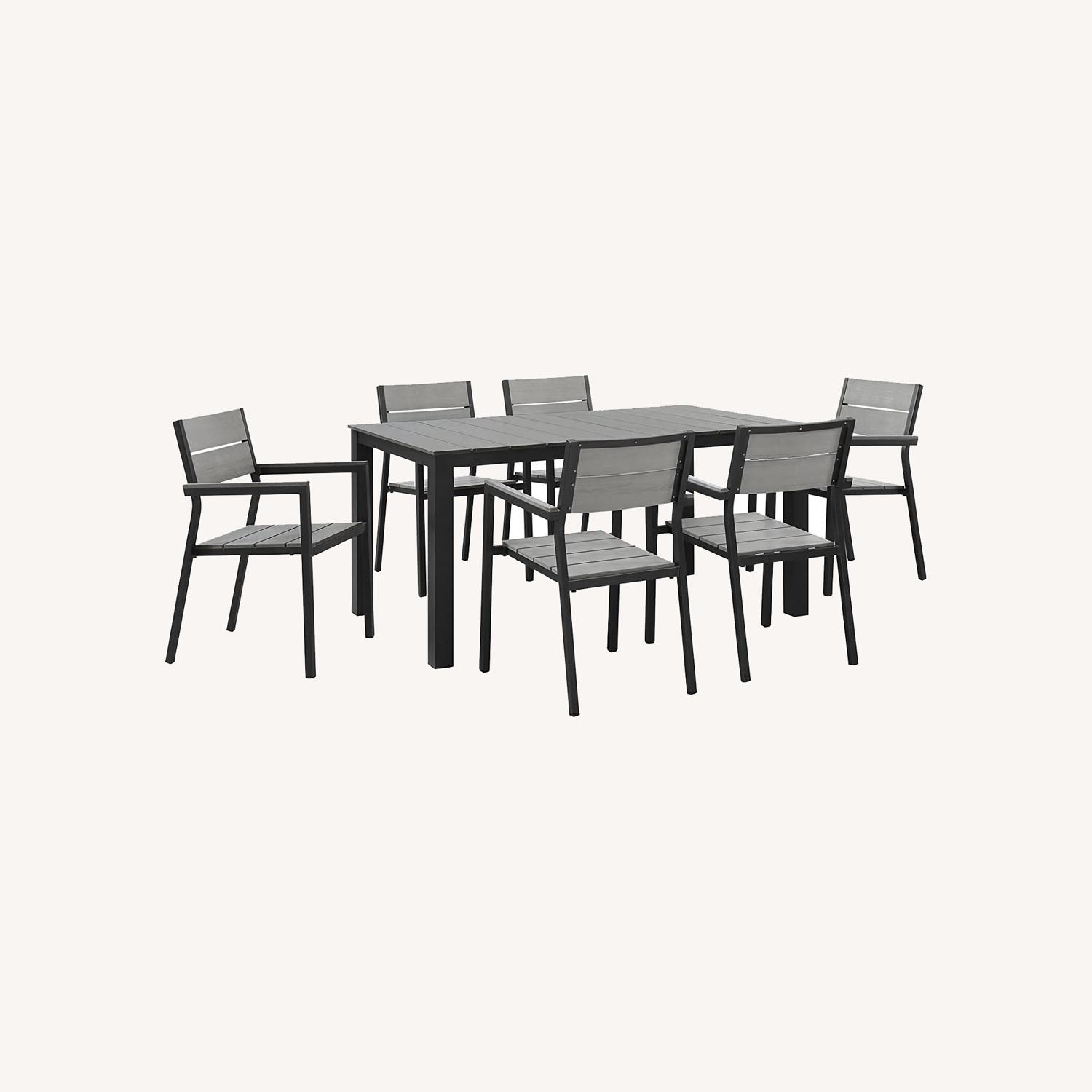 Modern 7-Piece Dining Set In Gray Frame Finish - image-6