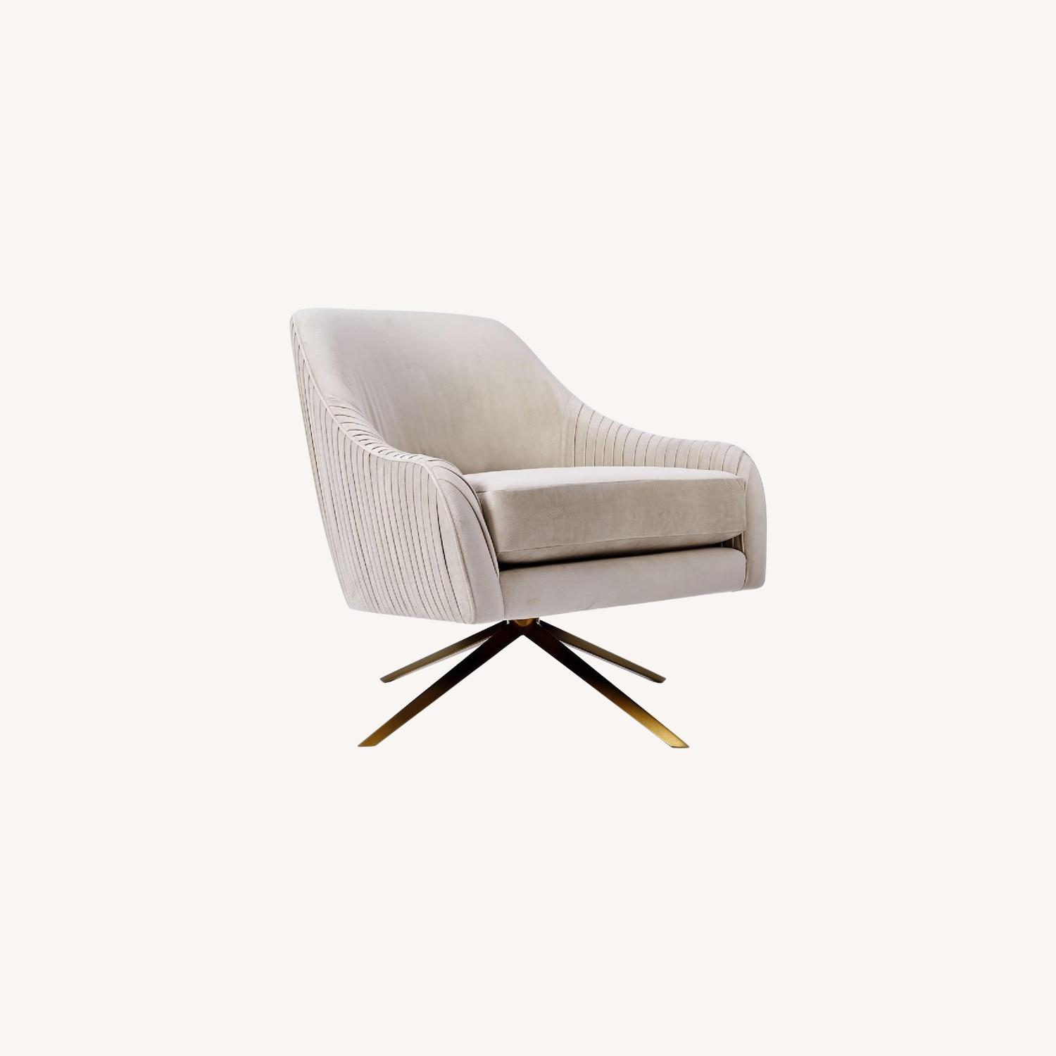 West Elm Velvet Chair - image-0