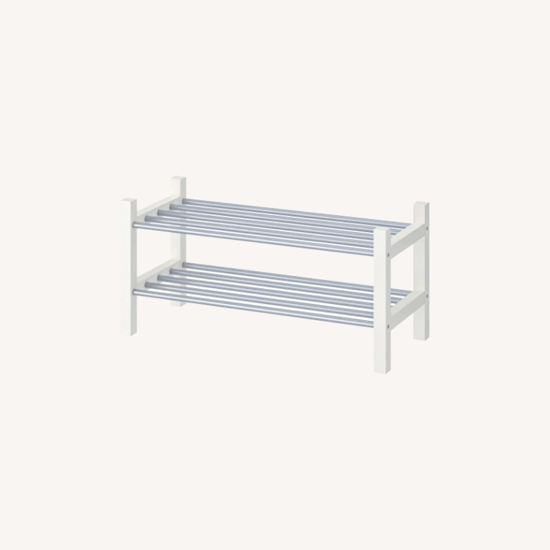 IKEA TJUSIG Shoe Rack, White - image-0
