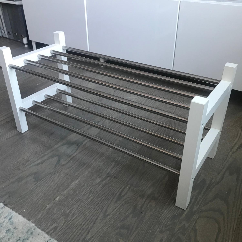 IKEA TJUSIG Shoe Rack, White - image-3