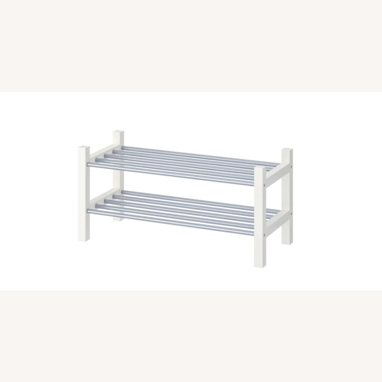 IKEA TJUSIG Shoe Rack, White - image-1