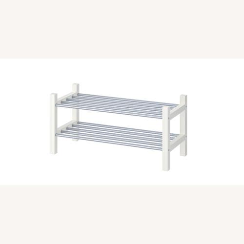 Used IKEA TJUSIG Shoe Rack, White for sale on AptDeco