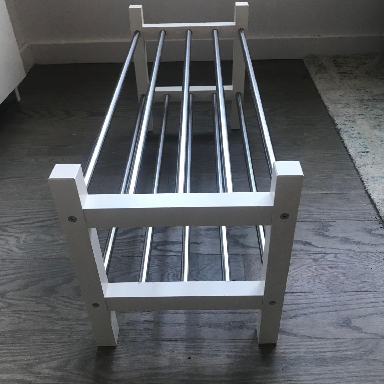 IKEA TJUSIG Shoe Rack, White - image-2