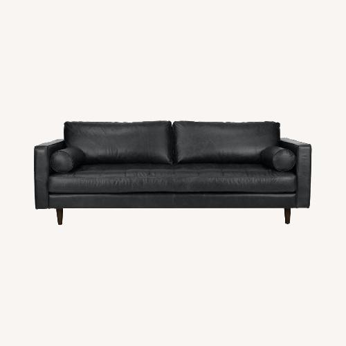 Used Article Black Leather Couch for sale on AptDeco