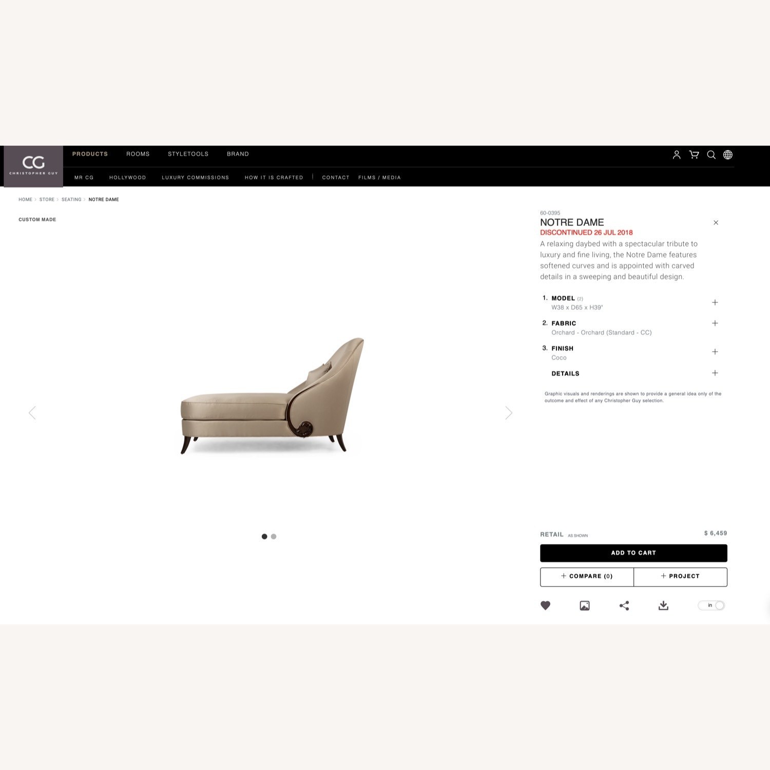 Christopher Guy Notre Dame Daybed - image-11