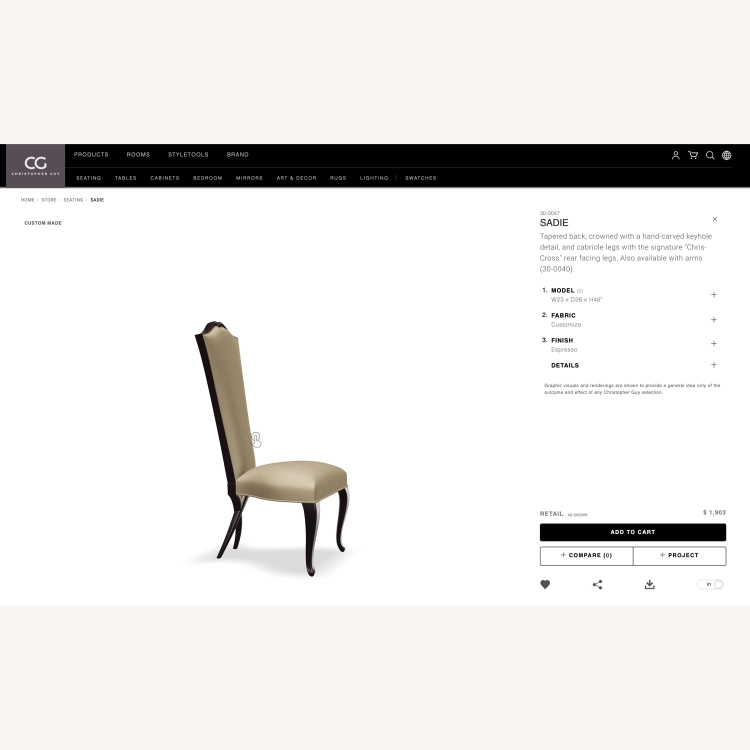 Christopher Guy SADIE Accent Chair - image-9