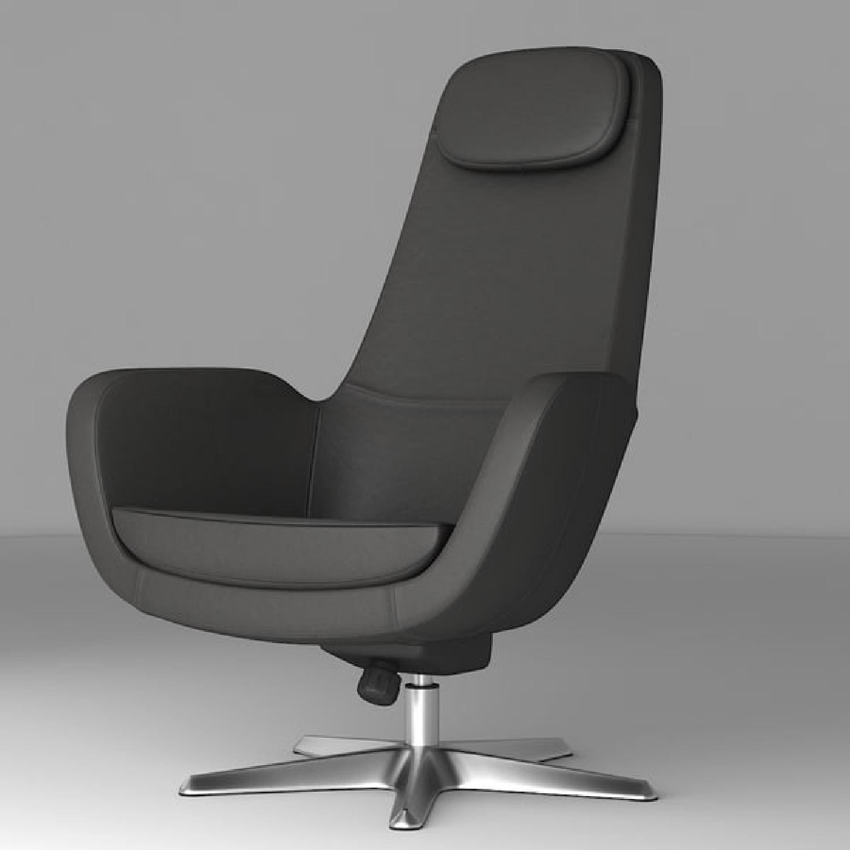 IKEA ARVIKA leather Swivel Lounge Chair - image-12