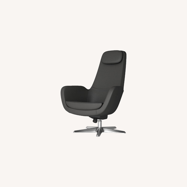 IKEA ARVIKA leather Swivel Lounge Chair - image-0