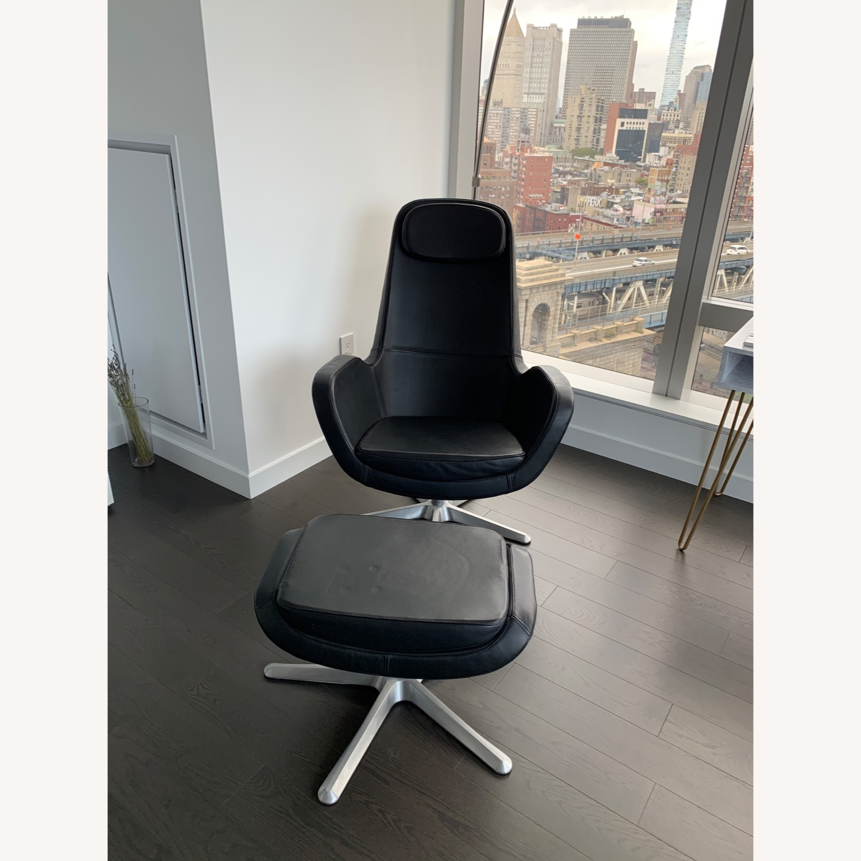 IKEA ARVIKA leather Swivel Lounge Chair - image-7