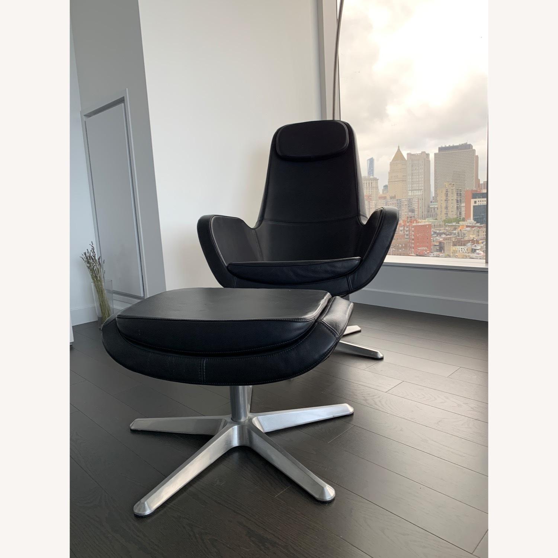 IKEA ARVIKA leather Swivel Lounge Chair - image-5