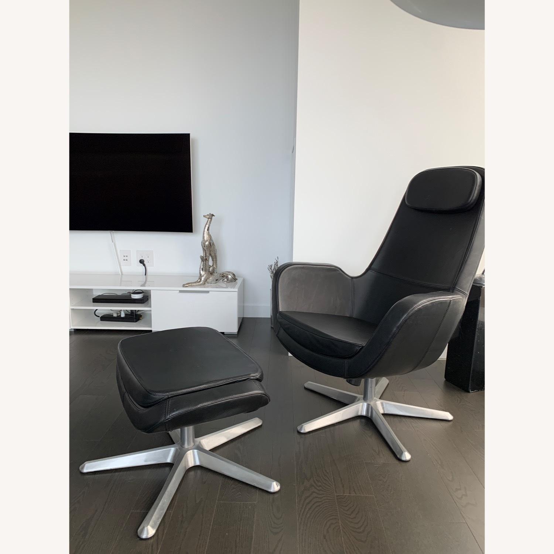 IKEA ARVIKA leather Swivel Lounge Chair - image-8