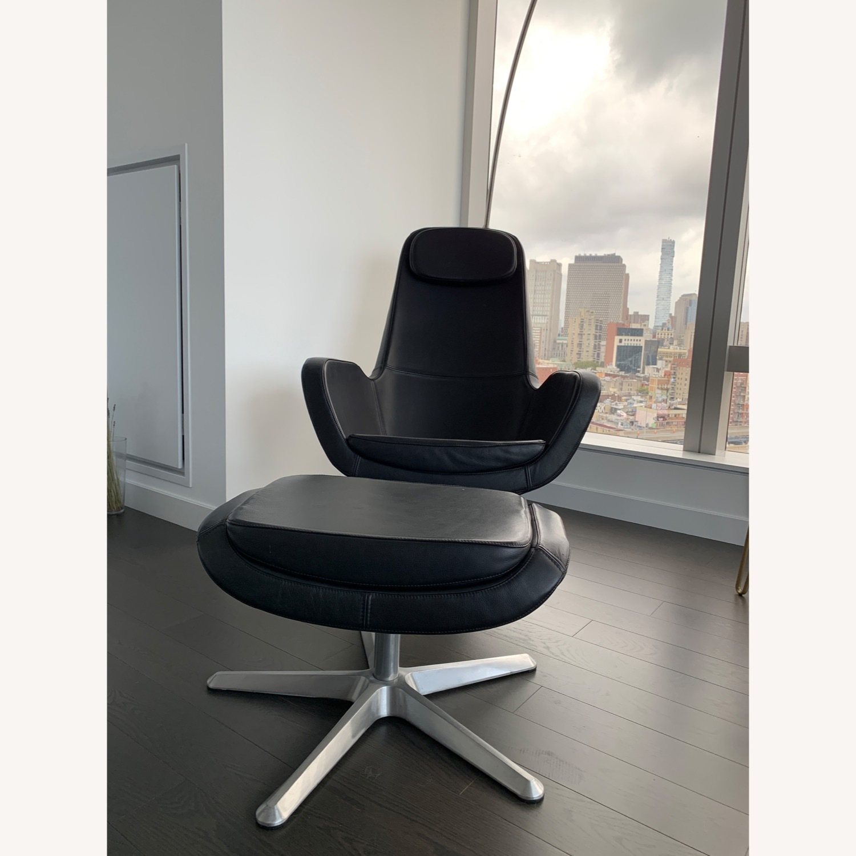 IKEA ARVIKA leather Swivel Lounge Chair - image-6