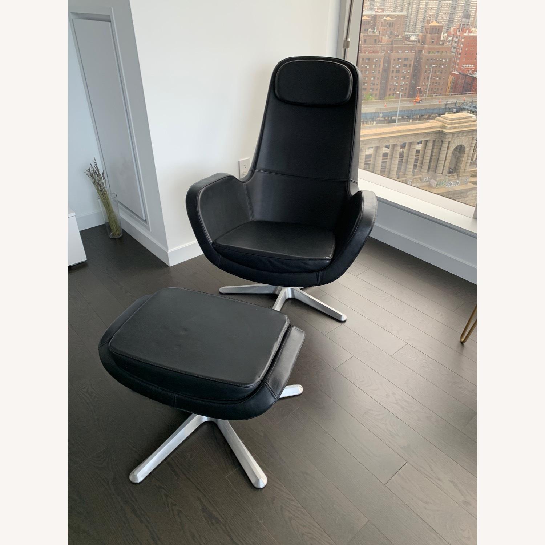 IKEA ARVIKA leather Swivel Lounge Chair - image-11