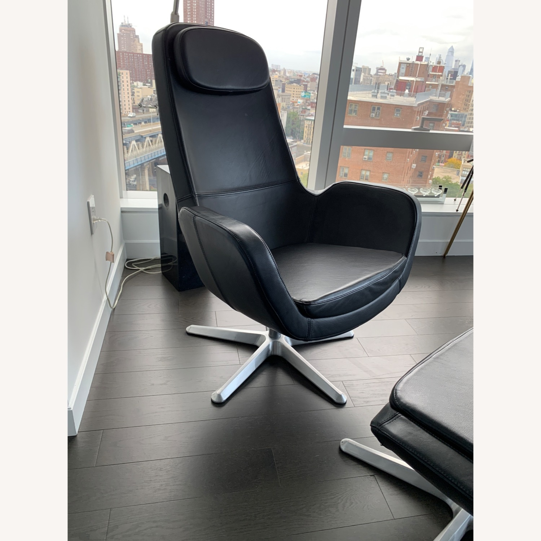 IKEA ARVIKA leather Swivel Lounge Chair - image-2
