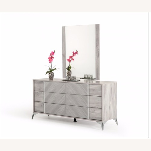 Used Nova Domus Grey Dresser & Mirror for sale on AptDeco