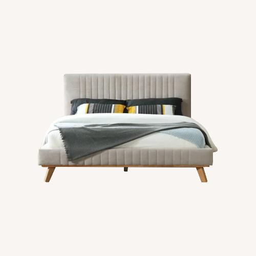 Used Wade Logan Upholstered Queen Bed for sale on AptDeco