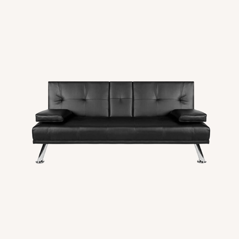 Black Sleeper Sofa - image-0