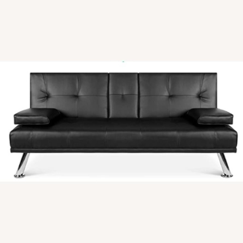 Black Sleeper Sofa - image-3
