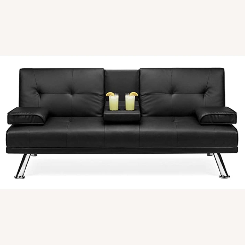 Black Sleeper Sofa - image-1