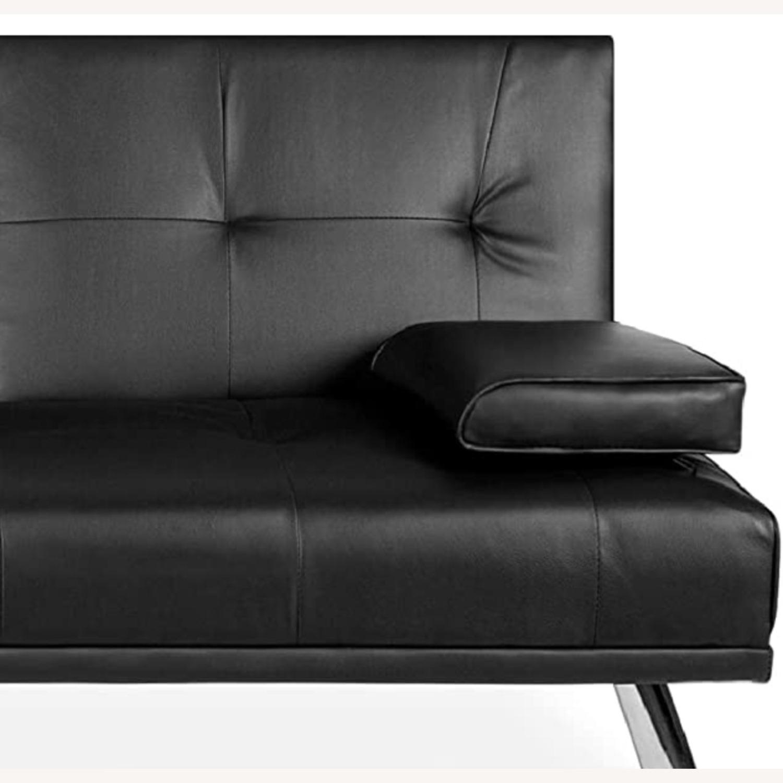 Black Sleeper Sofa - image-4