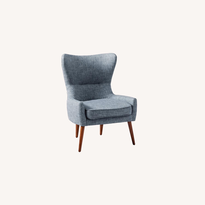 West Elm Erik Chair - Medium Blue - image-0