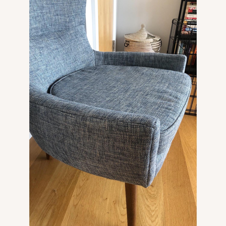 West Elm Erik Chair - Medium Blue - image-5
