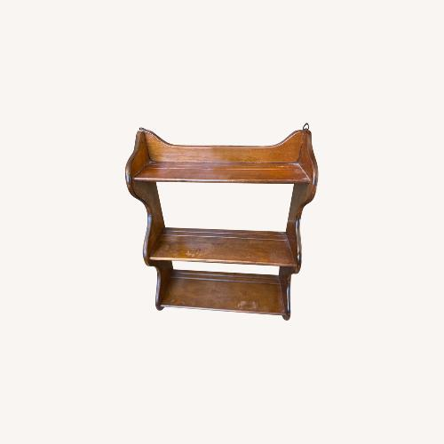 Used Vintage 1970s Knick Knack Solid Wood Shelf for sale on AptDeco