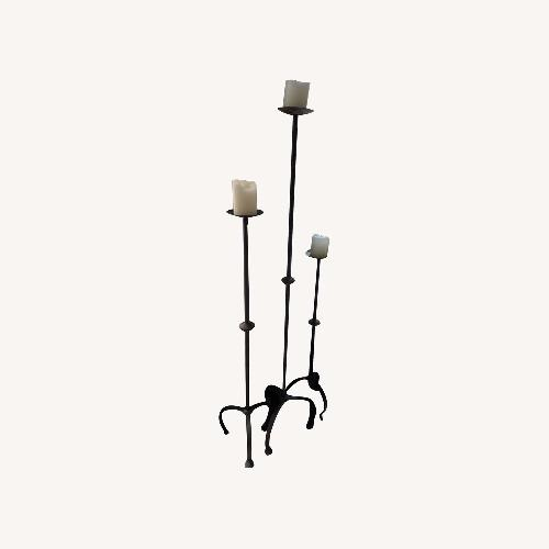 Used Set of 3 Wrought-iron Candle Holders for sale on AptDeco