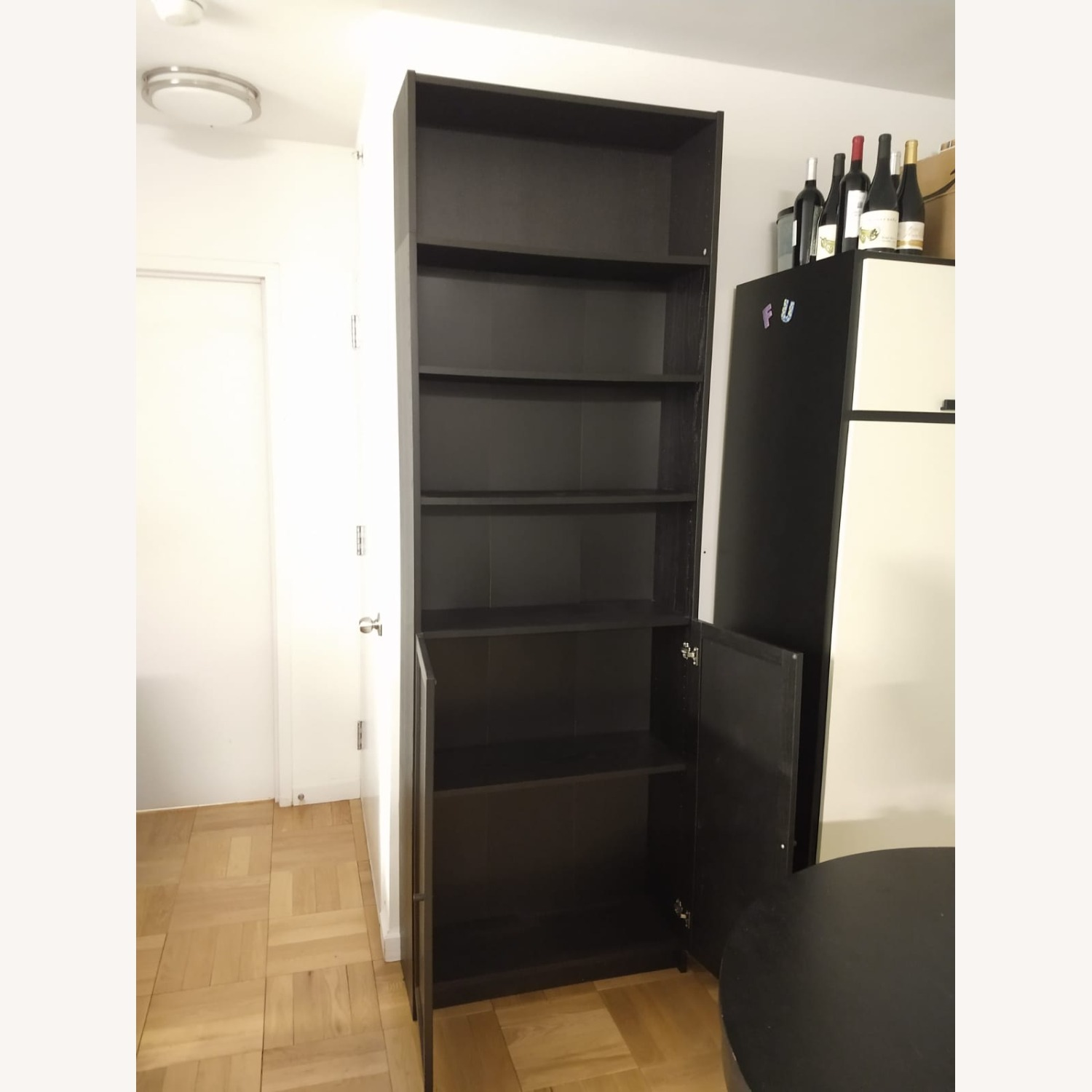 IKEA Billy Oxberg Black Bookshelf with Height Extension - image-2