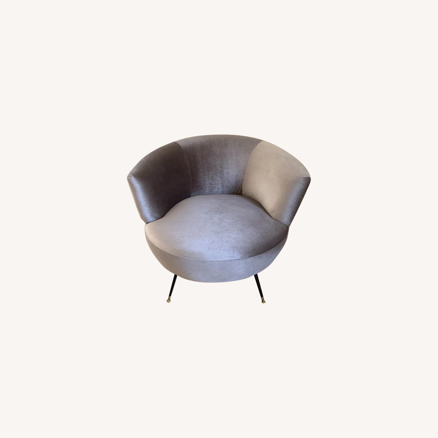 Midcentury Style Curved Chair - image-0