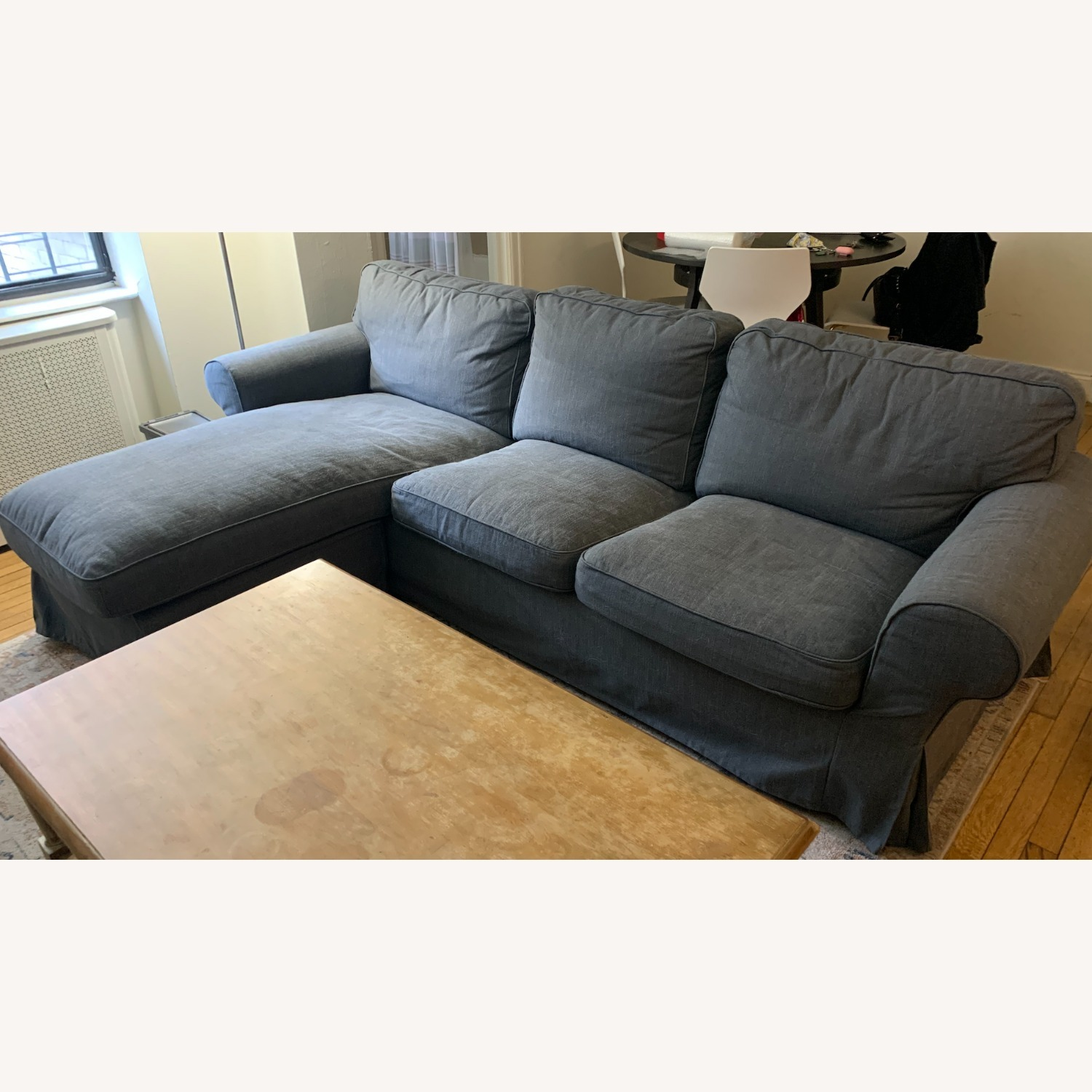 IKEA Grey 3-Seat Sofa with Chaise - image-1