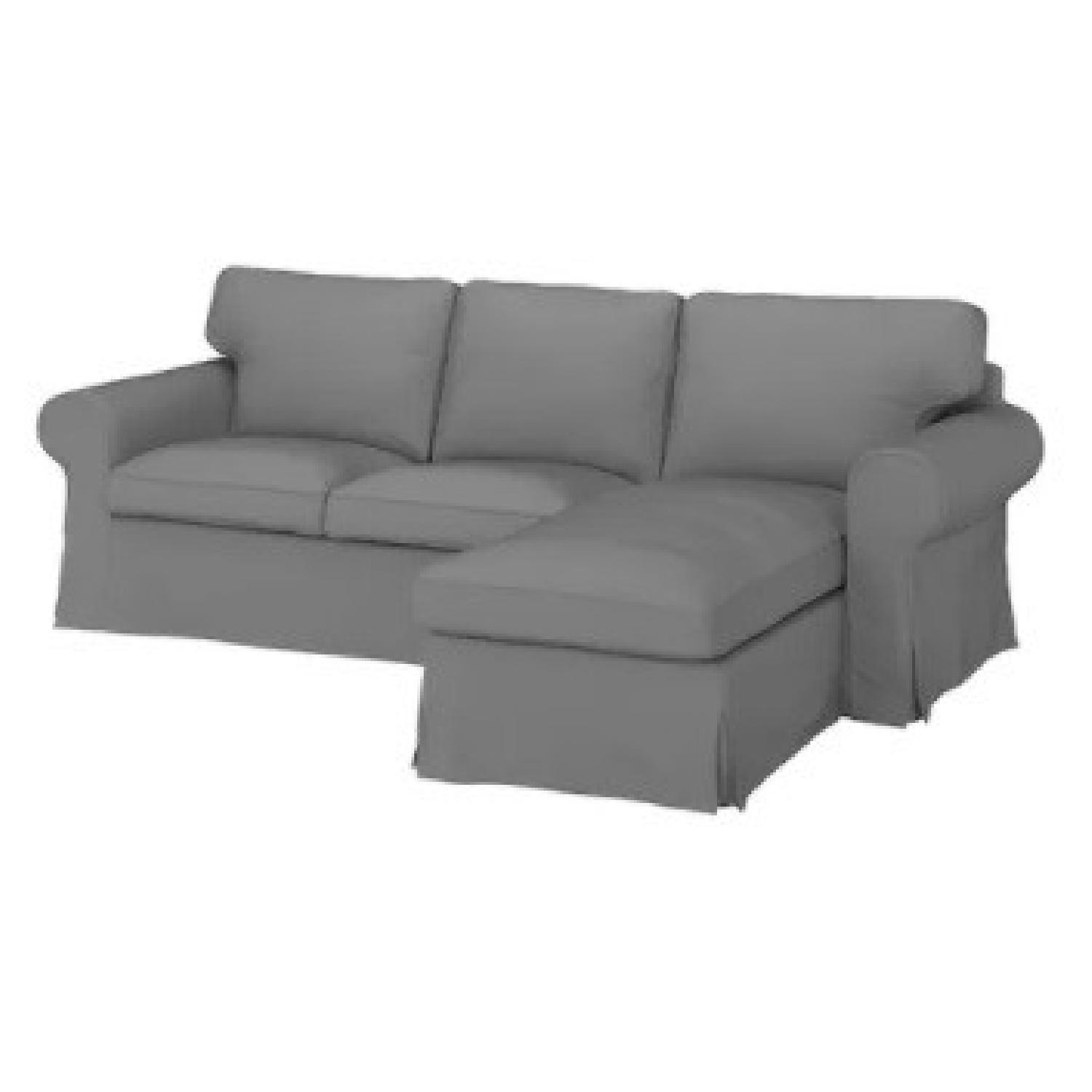 IKEA Grey 3-Seat Sofa with Chaise - image-5