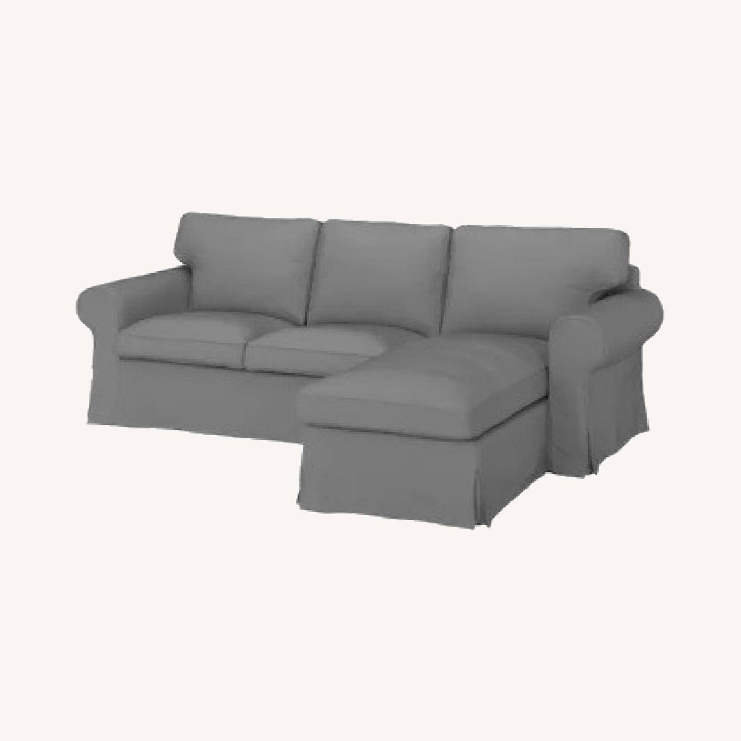 IKEA Grey 3-Seat Sofa with Chaise - image-0