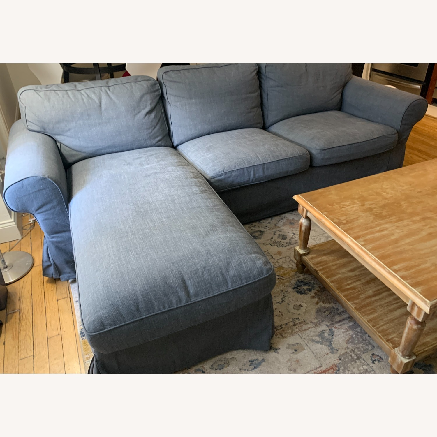 IKEA Grey 3-Seat Sofa with Chaise - image-2
