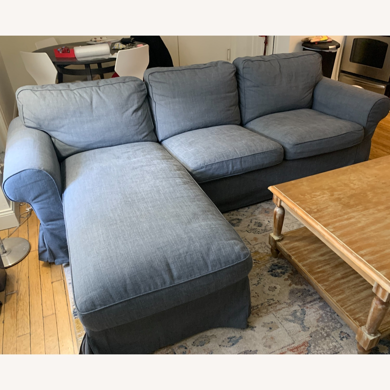 IKEA Grey 3-Seat Sofa with Chaise - image-3