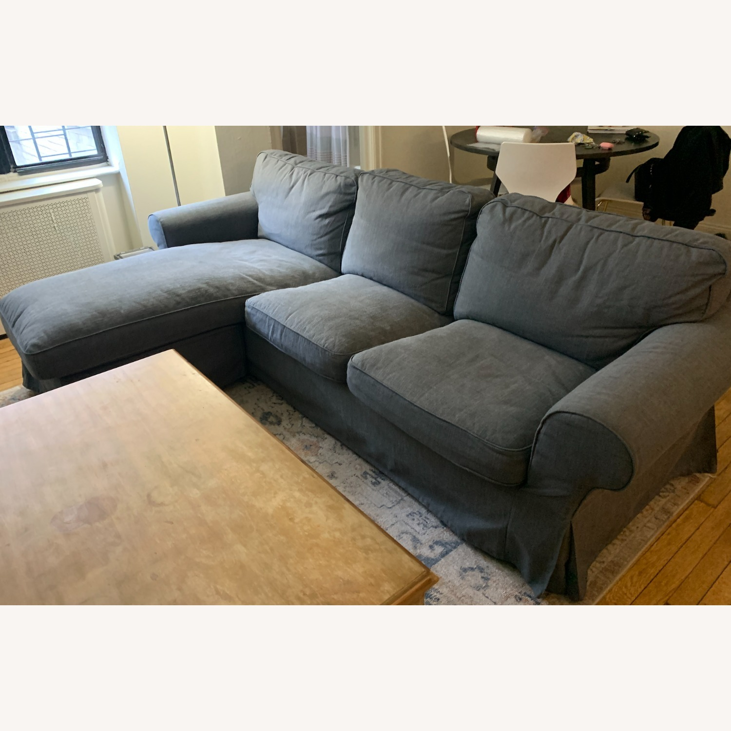 IKEA Grey 3-Seat Sofa with Chaise - image-4