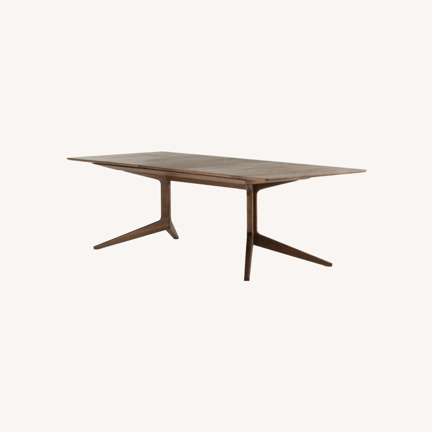 De La Espada 341E Extending Dining Table Walnut - image-0
