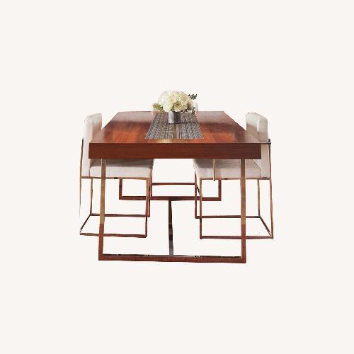 Used Extendable Calligaris Walnut & Chrome Table for sale on AptDeco
