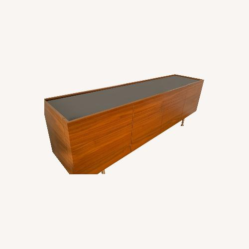 Used Calligaris Walnut, Chrome and Glass Sideboard for sale on AptDeco