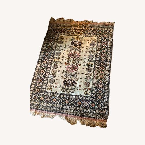Used Silk Turkish Area Rug for sale on AptDeco