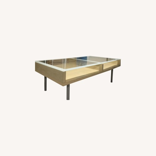 Used Home Goods Glass Top Coffee Table for sale on AptDeco