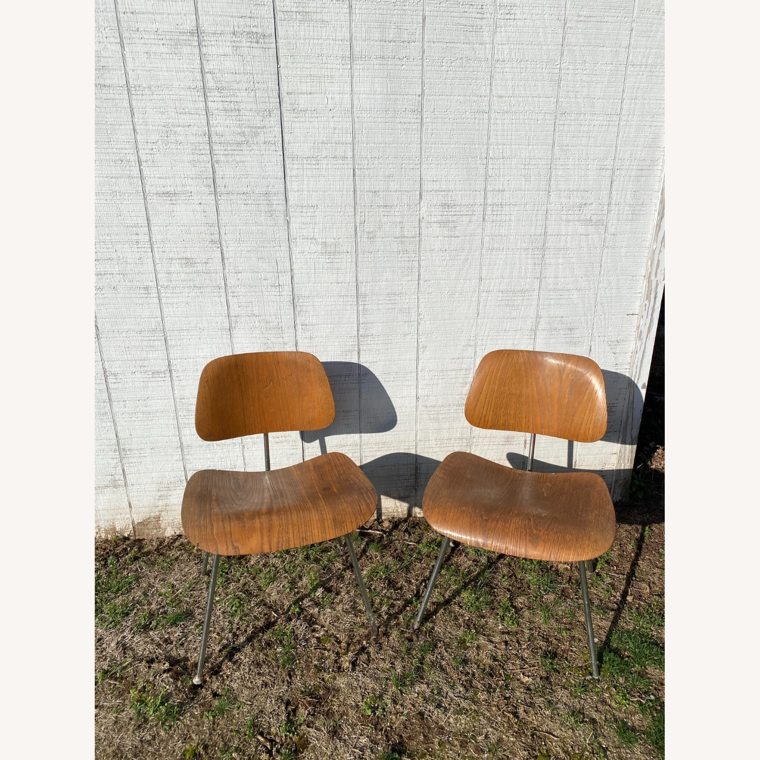 Pair of 1960s Herman Miller Eames DCM Chairs - image-10