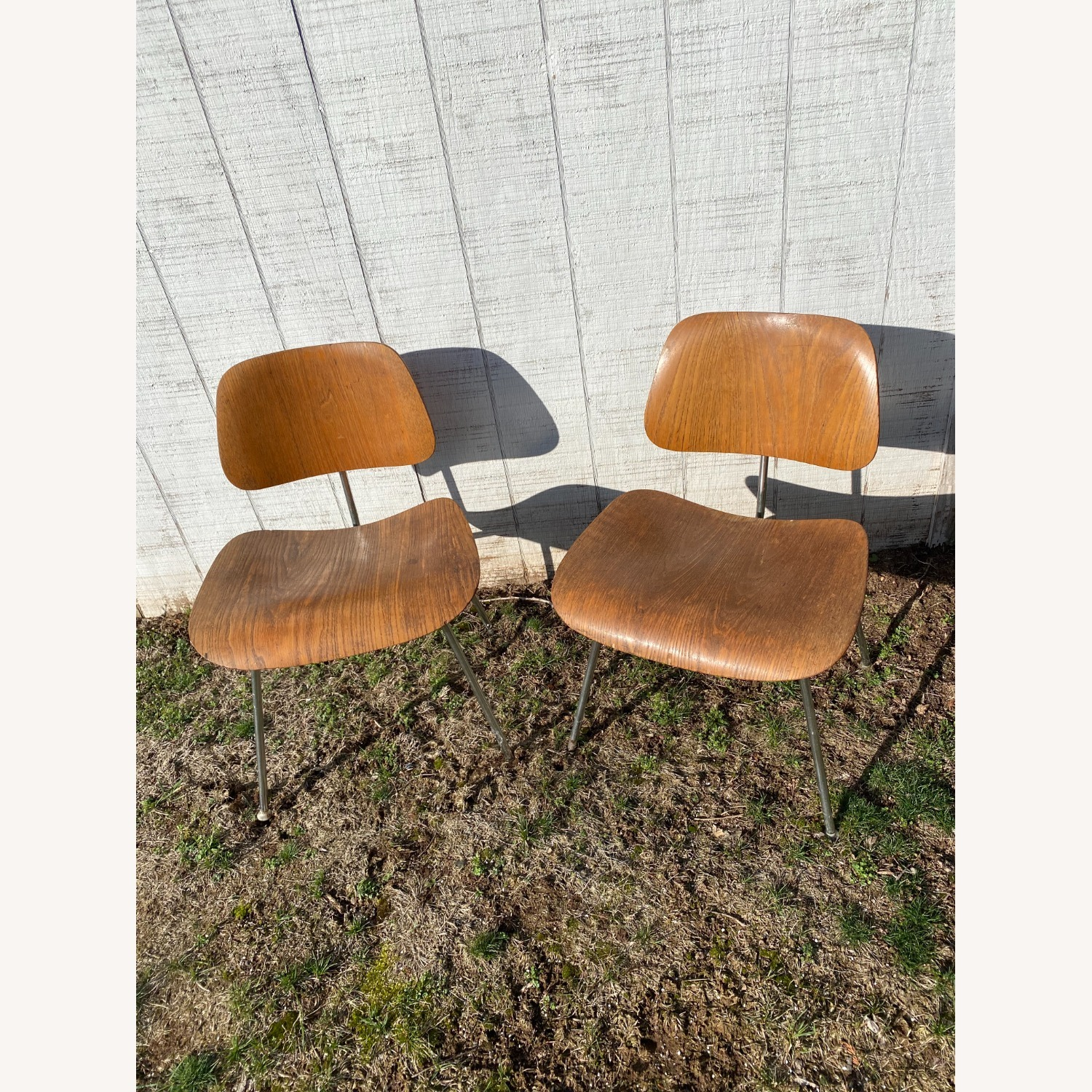 Pair of 1960s Herman Miller Eames DCM Chairs - image-1