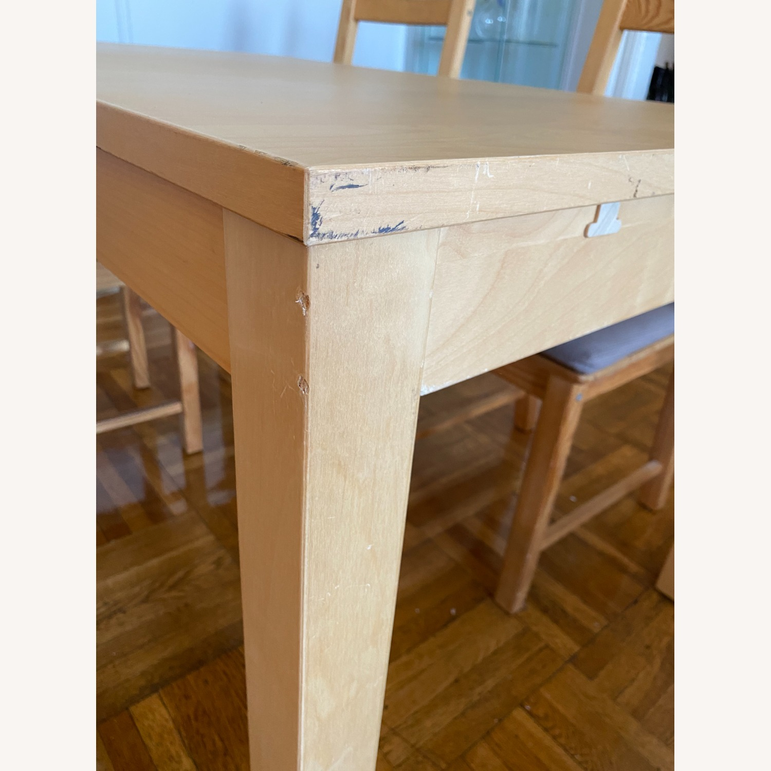 IKEA Wooden Dining Set with Extendable Table - image-4