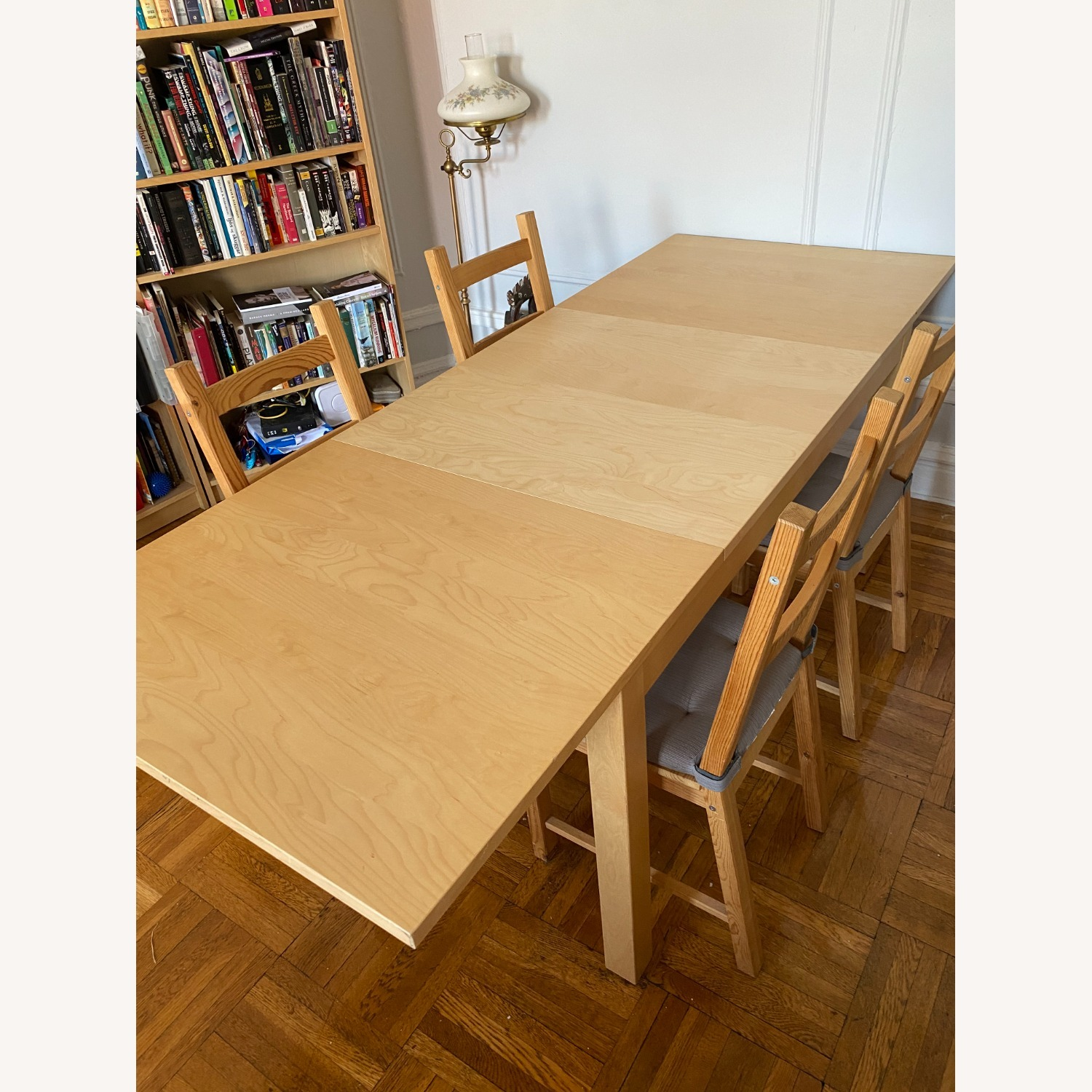 IKEA Wooden Dining Set with Extendable Table - image-5