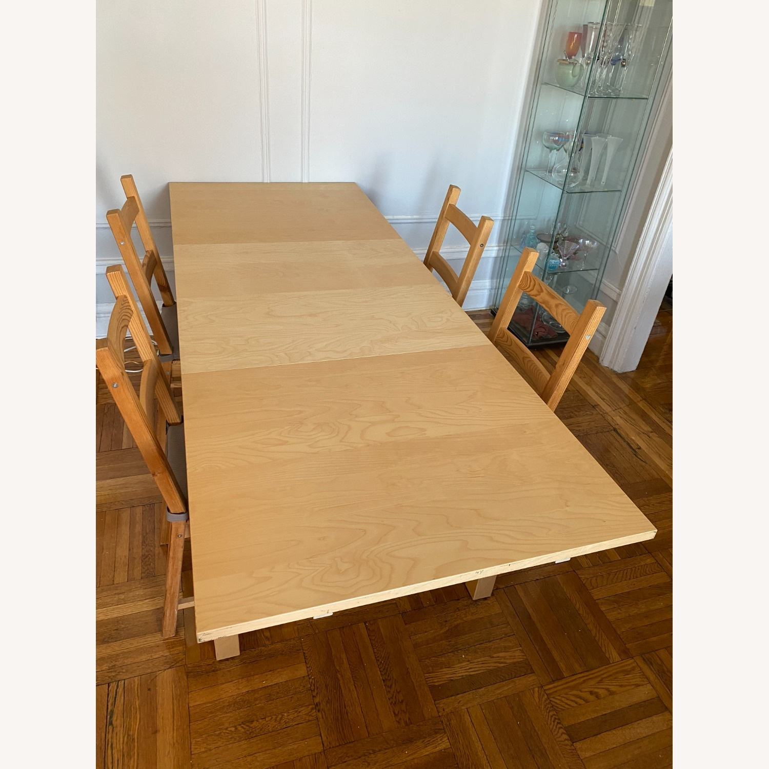 IKEA Wooden Dining Set with Extendable Table - image-7